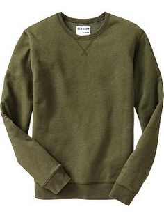 "Old Navy Mens Fleece Crew-Neck Sweatshirt - any color except red, size ""L Tall"""