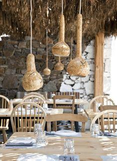 Alemagou Greek Tavern In Mykonos. Gorgeous greek tavern with a modern take in Mykonos Cafe Restaurant, Restaurant Design, Mykonos Restaurant, Seaside Restaurant, Home Design, Interior Design, Interior Decorating, Design Ideas, Facades