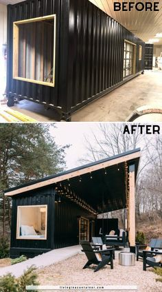 Building A Container Home, Container House Plans, Container House Design, Tiny House Design, Storage Container Homes, Container Buildings, Loft Design, Tiny House Cabin, Tiny House Living