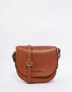 Whistles Leather Saddle Bag in Tan