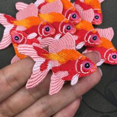 patch iron on patch goldfish embroidered patch by Perfecthandwork