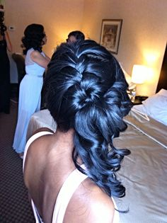 Braided hairstyles.  Bridal Hair Couture By Katie www.bridalhairtoronto.com
