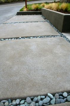 Acid etching to roughen surfaces, using muratic acid and metal flakes sprinkled on when the concrete was wet.