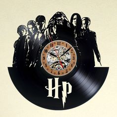 Vinyl Uhr Harry Potter von YourVinylTIme auf DaWanda.com