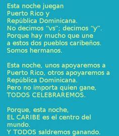 World Baseball Classic Final  tonight !                                                        ¡Que viva el deporte ! Esta noche a disfrutar en familia ! Los ojos del Mundo están en los CARIBEÑOS ...  los equipos en Puerto Rico y República Dominicana se enfrentan en el juego desicivo.