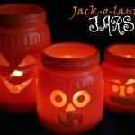 Make Jack-o'-Lantern Jars