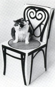 Marget Larsen's box-turned-chair via Burning Settlers Cabin  http://www.burningsettlerscabin.com/?p=9977