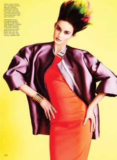 I love the hair in this spread from Flare's May 2012.