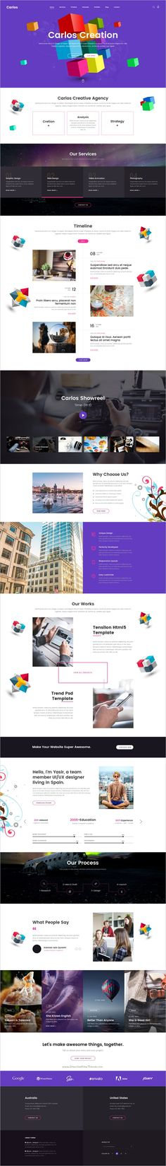 Carlos is a creative #PSD template for #personal or #business websites download now➩ https://themeforest.net/item/carlos-creative-multipurpose-psd-template/19245155?ref=Datasata