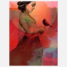 Lady In Red Canvas 30x40 by Catrin Welz-Stein | Fab.com