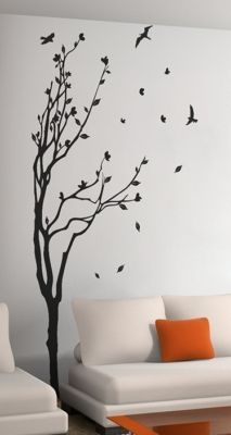 Wall sticker art decoration - Tree and birds 3 Sizes available. Remember to choose the size that fits you wall space. If you need a custom size Tree Wall Painting, Creative Wall Painting, Painting Brick, Nursery Wall Stickers, Decals For Walls, Wall Decor Stickers, Vinyl Wall Decals, Bedroom Wall, Bedroom Murals