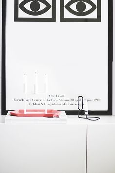 Via Noe Pa Hjertet | Olle Eksell Poster | Hay Lup, and By Lassen Candle Holders | Hay Kaleido Tray
