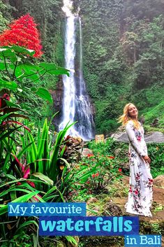 Bali has so many beautiful waterfalls that it is difficult to choose between them. Therefore, I am sharing my favourite waterfalls in Bali and what you need to know before visiting these waterfalls. Bali Waterfalls, Beautiful Waterfalls, Travel Advice, Travel Guide, Travel Ideas, Waterfalls Photography, Beautiful Places In The World, Amazing Places, Group Travel