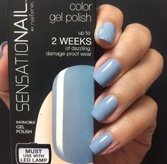 This pastel #CoolBreeze color looks so cute on nails!