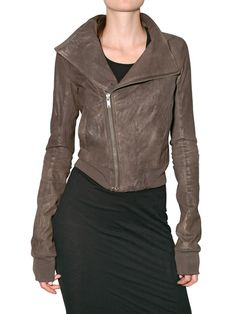 Bomber Leather Jacket by Rick Owens