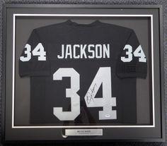 Oakland Raiders Bo Jackson Autographed Framed Black Jersey PSA/DNA