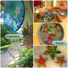 Bohemomma Adventures: #78 ~ Suncatchers From Melted Cheap Plastic Beads great summer project must try! :: ecrafty