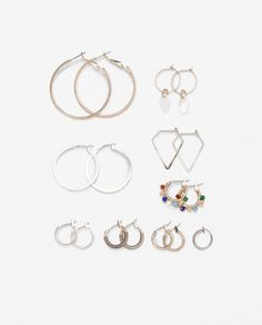 Image 1 of MULTI HOOPS EARRINGS PACK from Zara