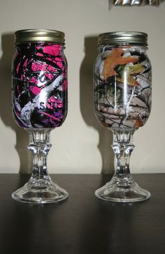 Pair of Redneck Wine Glasses (Muddy Girl & Camo). There's a very good possibility I will be buying these soon