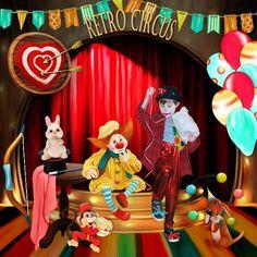 Bribri62-Scrap: Ma page avec le Kit Circus de Kastagnette