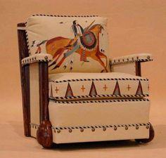Great Ledger Art chair I custom painted for Marc Taggart & Co. in Cody, Wy. Available from his site.