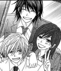 Souichirou, Riko, and Kurosaki        _Dengeki Daisy