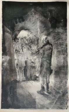 """""""My Return"""" - 1934 Karlis Padegs #ink"""