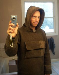 Yet Another Blanket Anorak (but this one has a big chest pocket with a gap behind for a handwarmer)