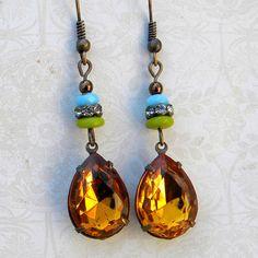Topaz Earrings  Topaz By The Firelight Earrings  Topaz by Msemrick, $24.00