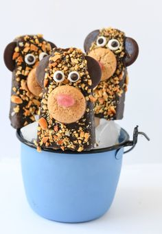 Frozen Banana Chocolate Pops - Fork and Beans