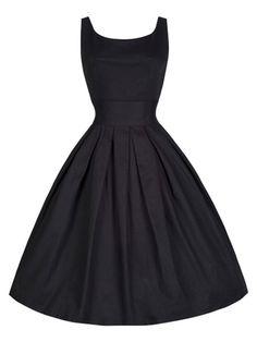Schau' dir mal diesen tollen Look an, den ich auf stylight.de gefunden habe.  black audrey hepburn vintage dress Black dress, retro dress, 50s dress, vintage dress, hepburn dress
