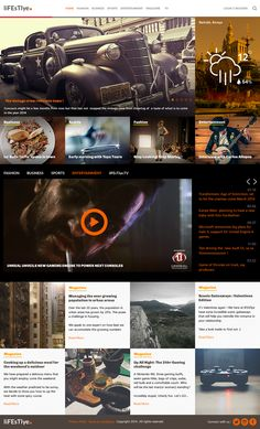 Buena plantilla web gratuita en psd para sitios de noticias