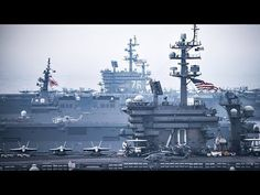 USA Sends Strong Message To North Korea With 2 Aircraft Carriers Escorted By Japanese & US Warships