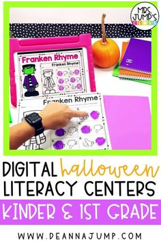 These kindergarten Halloween centers are all digital, making them a great way to integrate technology into your classroom. Each digital center includes a fun, Halloween themed kindergarten literacy activity that your students will love!