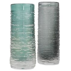 Pair of Glass 'Spun' Vases by Bengt Edenfalk for Skruf Sweden... found these junking!