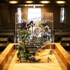 〔花嫁DIY〕アクリルボードに押し花を挟むなら*ミニブーケ風のデザインが今とっても人気! | marry[マリー]