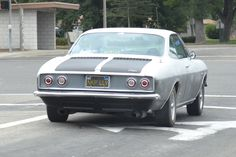 Street Spot: Silver and Black Corvair