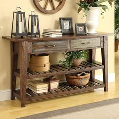 Coast to Coast Imports Courtland Console Table in Brown & Reviews   Wayfair