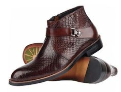 Leather Ankle Strap Boots For Men