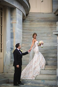 Merchant's Exchange Building- Philadelphia, PA  Gown- Emma by Matthew Christopher