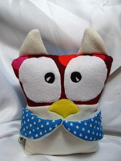 """Doudou chouette """"Ma Owl"""" différentes colories"""