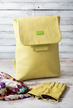 Bright yellow with light green accents middle size by OtaStudio