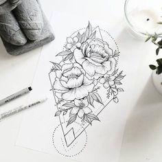 Geometric & Floral tattoo idea _ Beautiful drawing (not only for tattoo lovers). - Tattoos - Geometric & Floral tattoo idea _ Beautiful drawing (not only for tattoo lovers). Mandala Tattoo Design, Dotwork Tattoo Mandala, Flor Tattoo, Geometric Mandala Tattoo, Sacred Geometry Tattoo, Geometric Tattoo Design, Geometric Drawing, Geometric Flower Tattoos, Tattoo Abstract