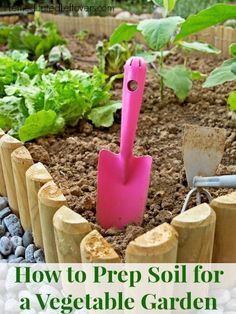 How to Prep Soil for a Vegetable Garden - Tips for prepping the soil for your garden plot, lists of plants to grow together based on required pH levels.