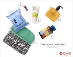 I need to make a small bag filled with skin products I use everyday. Easier for bathroom storage and travel.