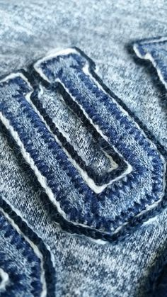 Chainstitch and jersey applique