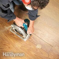 Laminate Floor Repair  Laminate floor get a ding? Whether it's a small chip or a big divot, you can repair it with simple, DIY techniques that make the floor look as good as new.