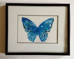 Butterfly Print  Blue by TheChickenKoop on Etsy