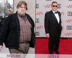 """John Goodman has lost by giving up alcohol 3 years ago, cutting sugar from his diet and exercising 6 days a week (""""I'm breaking a sweat but I'm not going nuts"""") - stating """"I wanted a better life"""". We think he looks fantastic - great job John! Weight Loss Goals, Weight Loss Program, Best Weight Loss, Healthy Weight Loss, Diet Program, Ricky Gervais, Kelly Osbourne, Celebrity Bodies, Chocolate Slim"""