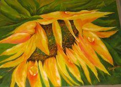 Sunflower - 16 X 20 Oil on Canvas